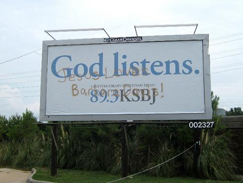Houston Billboard Additions: Give Up and Jesus Loves Barbara Davis! houston